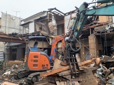 新宿区 高所の解体工事